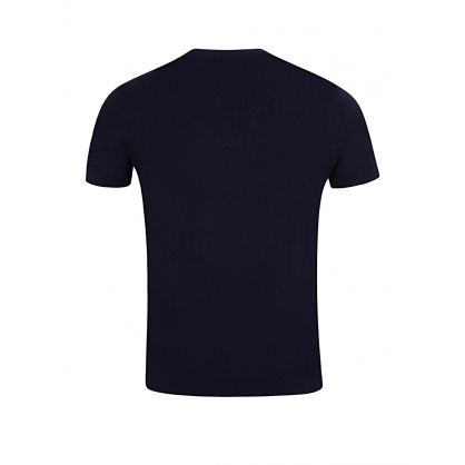 Navy Custom Slim Fit Cotton T-Shirt