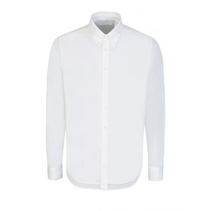 White Double Front Long-Sleeve Shirt