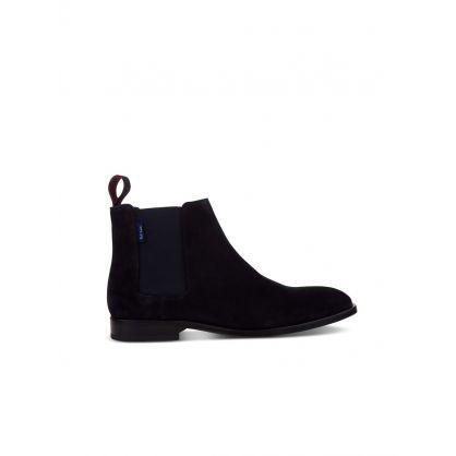 Navy 'Gerald' Chelsea Boots