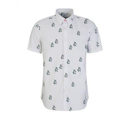 White Nettles Cotton Shirt