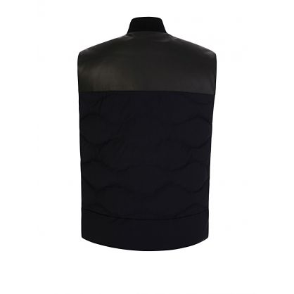 Navy Down Gilet