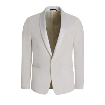 Cream Tailored Evening Blazer