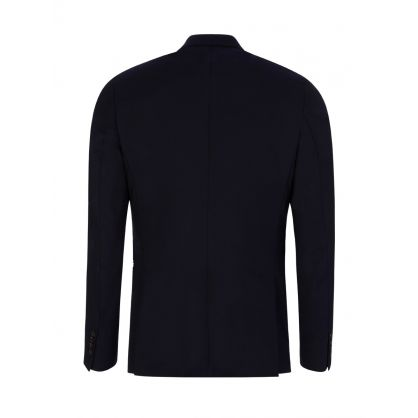 Navy Slim Fit Double-Breasted Jacket