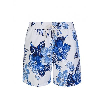 Blue Hibiscus Traveller Swim Shorts