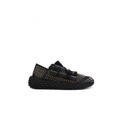 Black Low-Top Urchin Stud Trainers