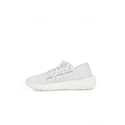 Urchin White Leather Trainers