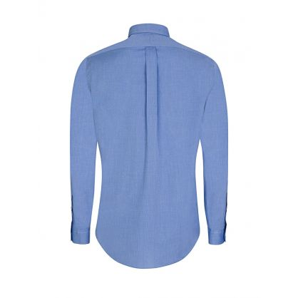 Blue Cotton Slim Fit Shirt