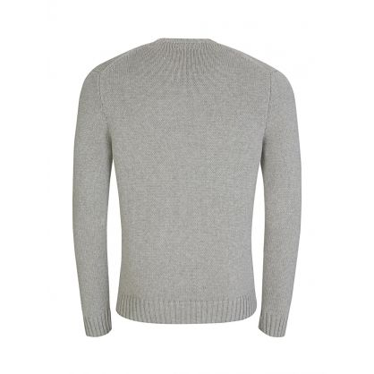 Andover Grey Cotton Knit Jumper