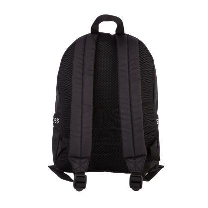 Black Casual Logo-Tape Backpack