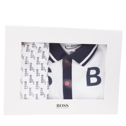 White/Navy Pyjamas & Bib Set