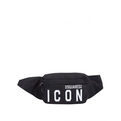 Kids Black Nylon ICON Waist Bag