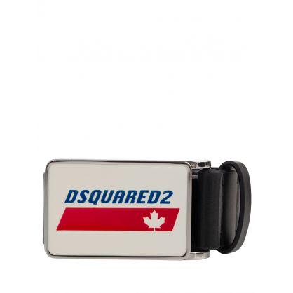 Kids Canada Leaf Logo Plaque Black Belt