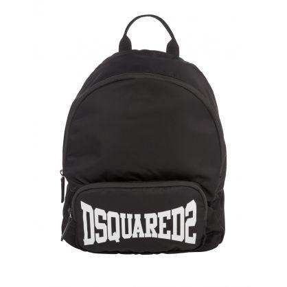 Kids Black Classic Logo Backpack