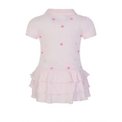 Kids Pink Bear Dress Babygrow
