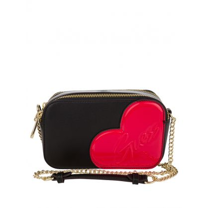 Kids Black Heart Clutch Bag