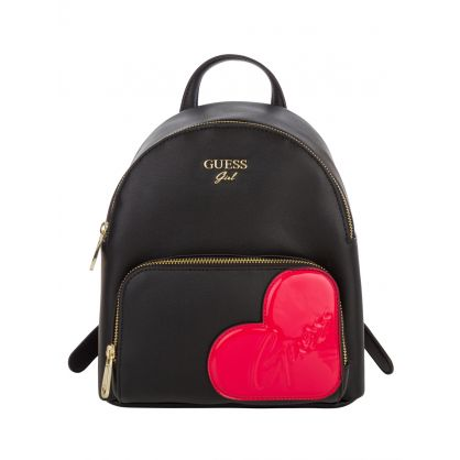 Kids Black Heart Logo Backpack