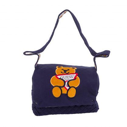 Kids Navy Blue Bear Logo Changing Bag