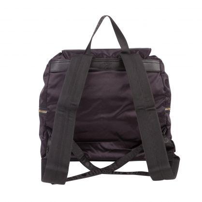 Kids Black Satin Nyna Backpack