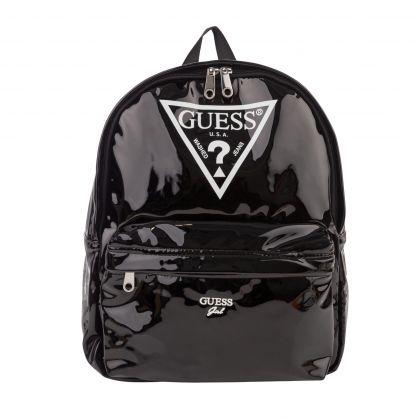 Kids Black Emmy Patent Backpack
