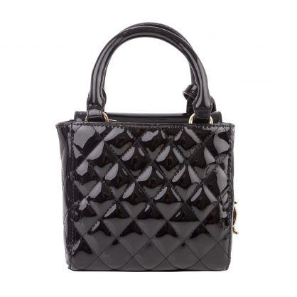 Kids Black Madeline Quilted Handbag