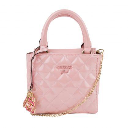 Kids Pink Madeline Quilted Handbag
