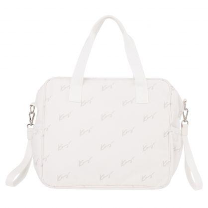Light Grey Logo Canvas Changing Bag