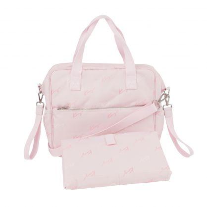 Pink Logo Canvas Changing Bag