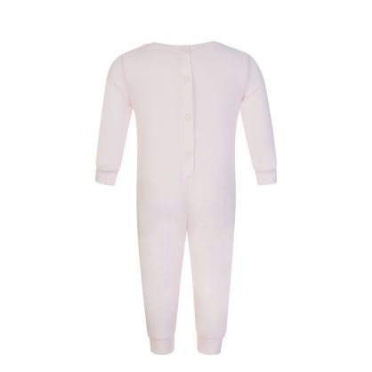 Pink All in One Elephant Babygrow