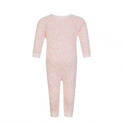 Pink Organic Cotton All in One Tiger Babygrow