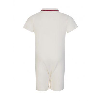Cream Polo Babygrow