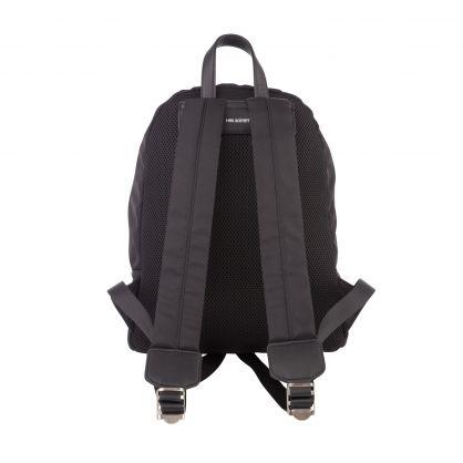 Kids Black Fair-Isle Thunderbolt-Print Backpack