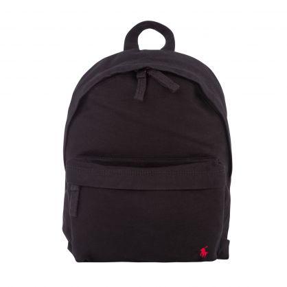 Kids Black Canvas Backpack