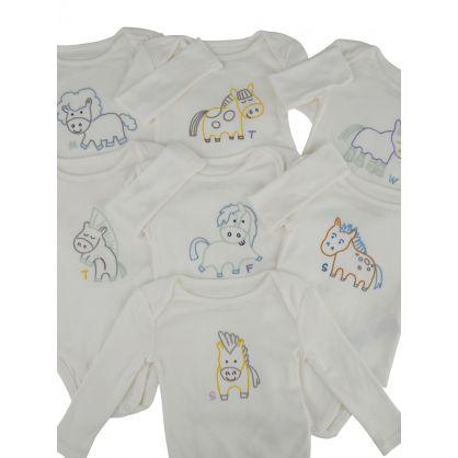 7 Piece Horse Babygrow Set