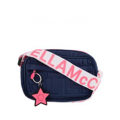 Navy Logo Quilted Shoulder Bag