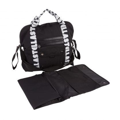Black Stella Logo Diaper Bag