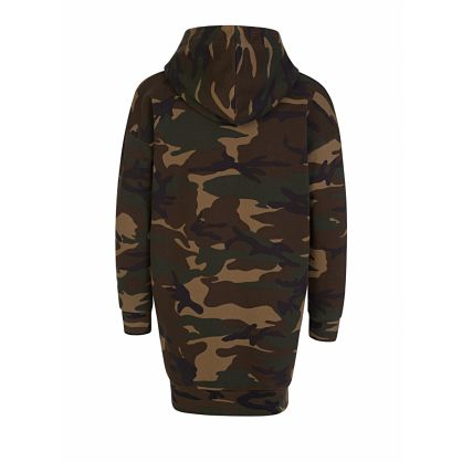 Kids Green Camo-Print ICON Hooded Dress