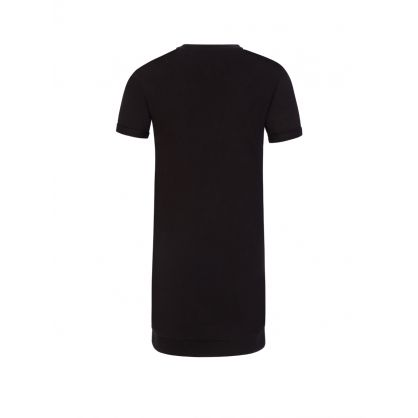 Kids Black Logo Tape Sweatshirt Dress