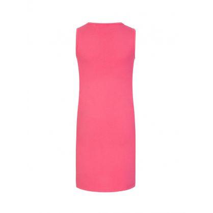 Kids Pink Sleeveless Core Logo Dress
