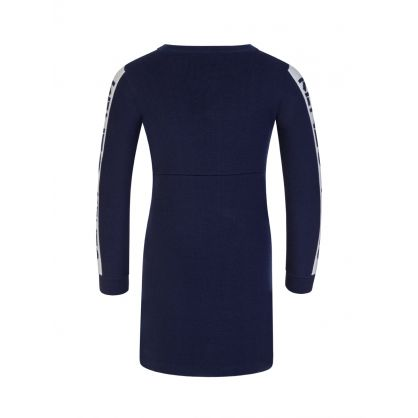 Navy Logo Tape Dress