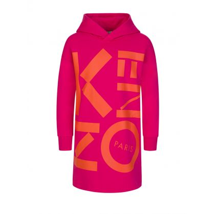 Pink Logo Hoodie Dress