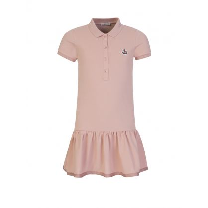 Pink Short-Sleeve Polo Dress