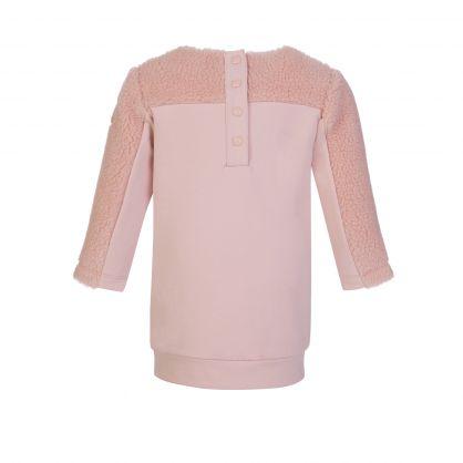 Pink Fleece Logo Sweatshirt Dress