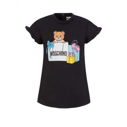 Kids Black Present Bear Baby Dress