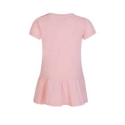 Kids Pink Bear Logo Baby Dress