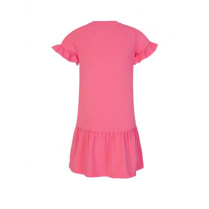 Kids Pink Milano Logo Dress