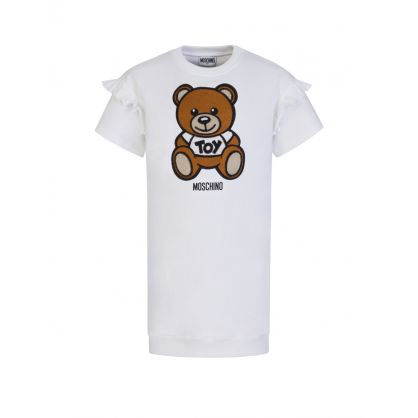 Kids White Bear Logo Dress