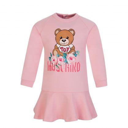 Kids Pink Toy Bear Baby Dress