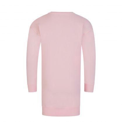 Kids Pink Toy Bear Sweater Dress