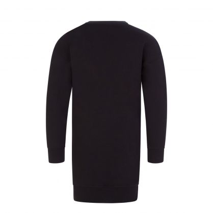 Kids Black Toy Bear Sweater Dress