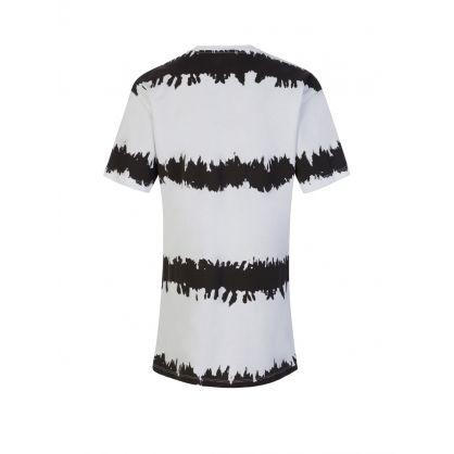 Kids White/Black Tie-Dye Logo Dress